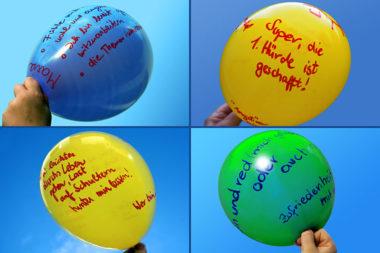 Veränderung Freitagsrunde Luftballons erste Erfolge D2830
