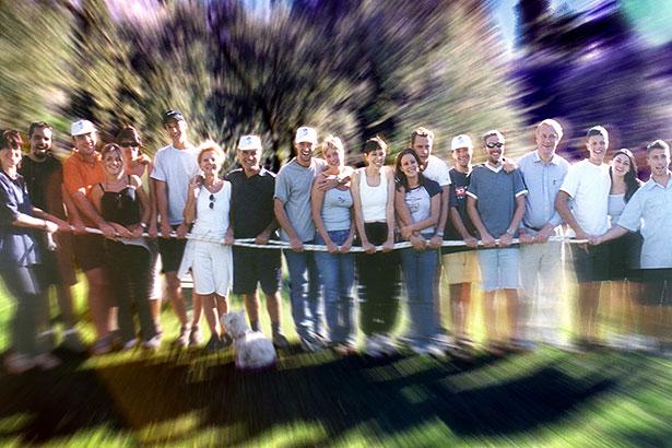 Outdoor Gruppe Seil lachen 05439