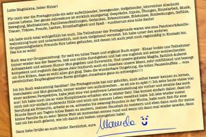 Teilnehmerstimmen Reider Manuela Freitagsrunde Brief D5545gb