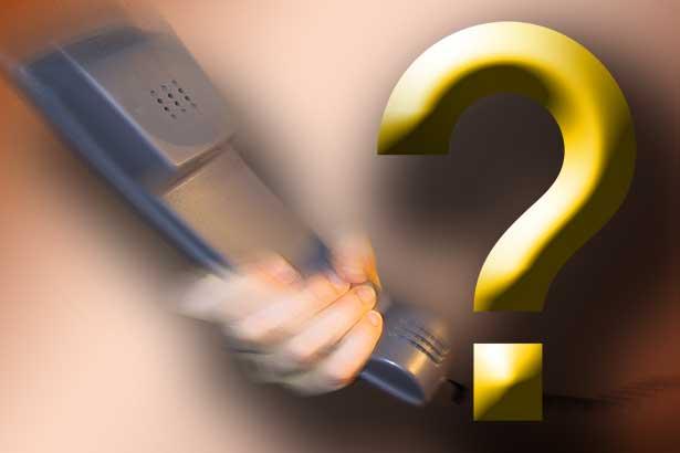 Telefon Hörer Hand Fragezeichen 7131