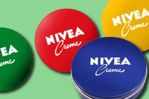 Werbung Nivea Dose Farben n