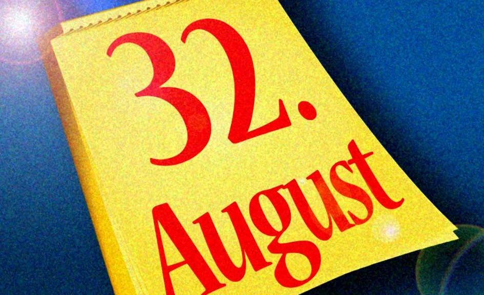 Kalender Abreisskalender Tageskalender 32. August Glanz / Grafik: TELOS - 09092cagr