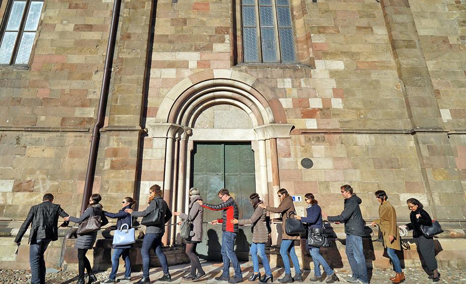Seminargeschehen Psychologie für Führungskräfte Seil Dom Bozen / Foto: TELOS - D2670d