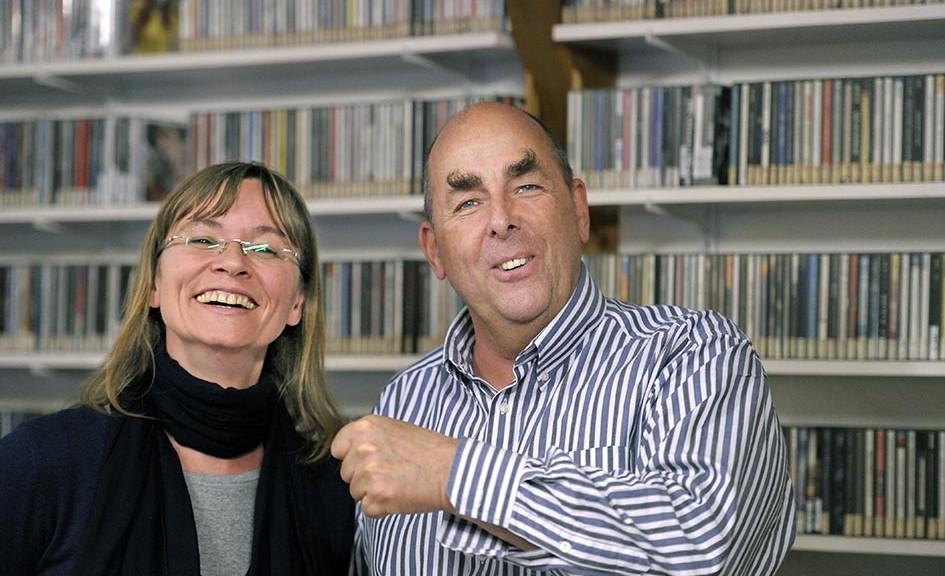Referenten Dr. Elmar Teutsch im Studio mit Barbara Bonmann Radio im WEB RIW SUN8680c