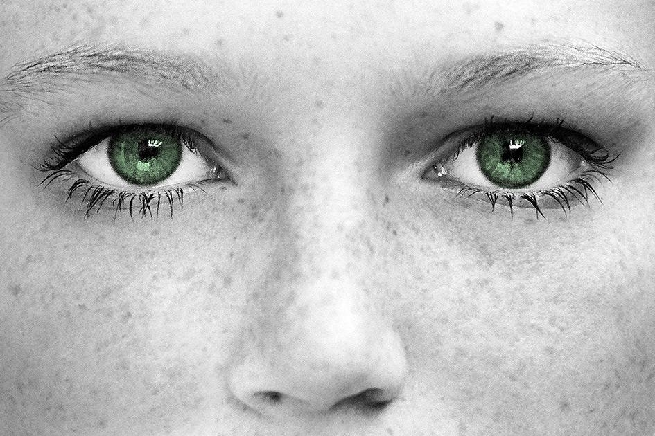 Augen grün Frau schön Sommersprossen sw82450023ebpc