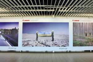 Werbung Plakat Canon Flughafen B6408b