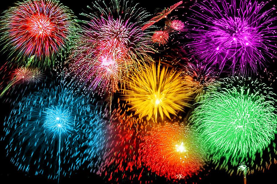 Silvester Raketen Feuerwerk Feier 09108c