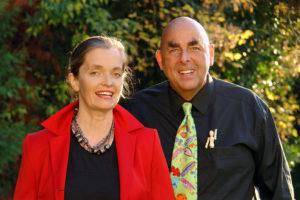 Referenten Mag. Magdalena Gasser und Dr. Elmar Teutsch im TELOS-Garten Coaching D6214bp