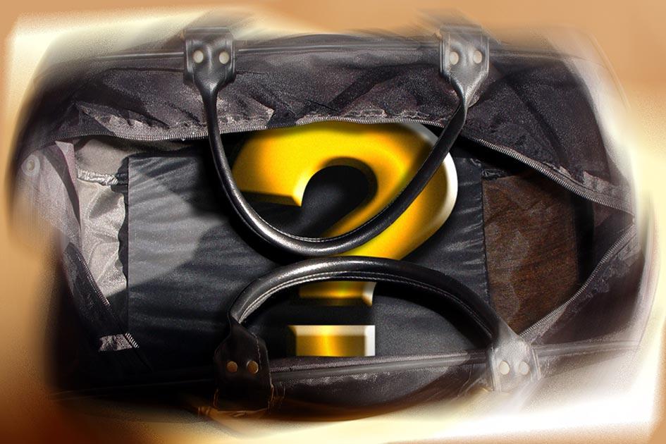 Verkauf Bedarfsanalyse Koffer mit Fragezeichen 03224vb