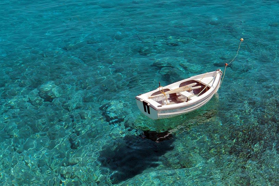Sommer Meer Wasser Boot schweben B9808c