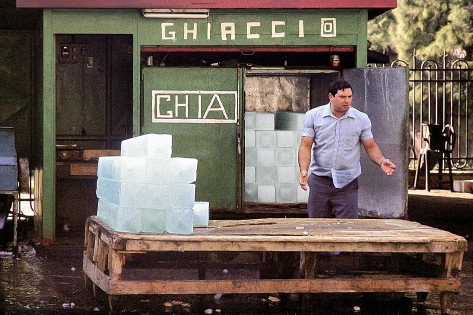 Sizilien Catania Verkäufer Eisblöcke Zigarette ärgerlich dia4743139b