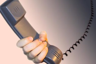 Telefonhoerer Frau Hand 03618b