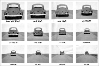 Werbung Print Anzeige VW läuft Ausschnitt 2281kl.