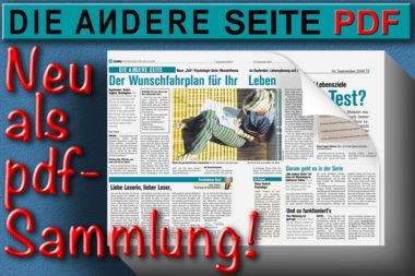 DAS Die andere Seite Logo Sammlung pdf Zeitungsstapel
