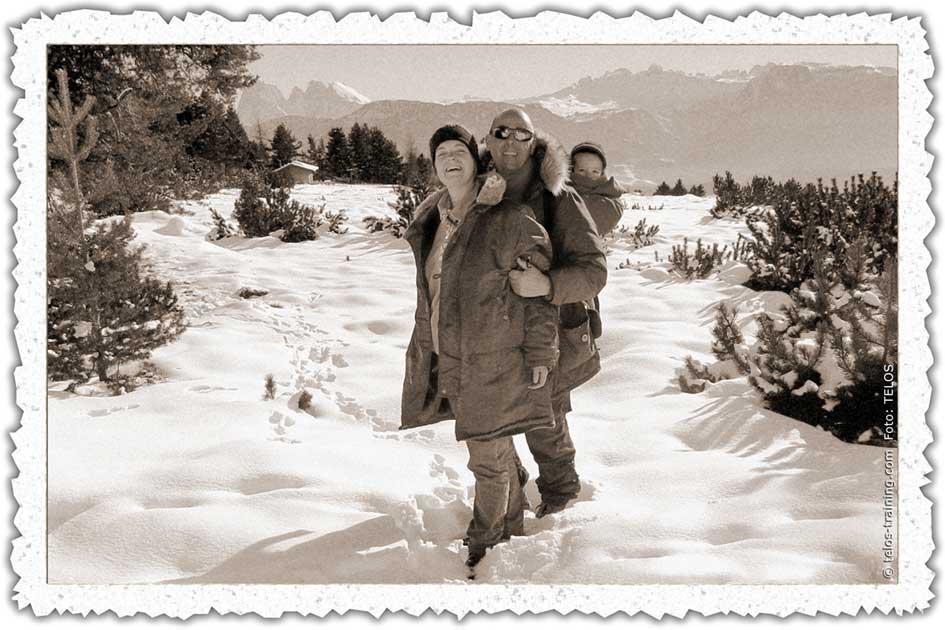 Weihnachtskarte 12 Winter Schnee Villanderer Alm Berge 00533ebr