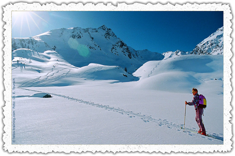 Weihnachtskarte 14 Winter Schnee Berge Skitouren 61600031cb