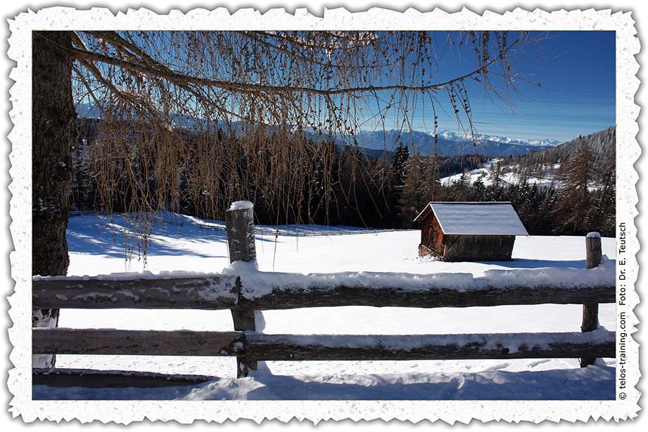 Weihnachtskarte 18 Ritten Gissmann Zaun Hütte C06966d