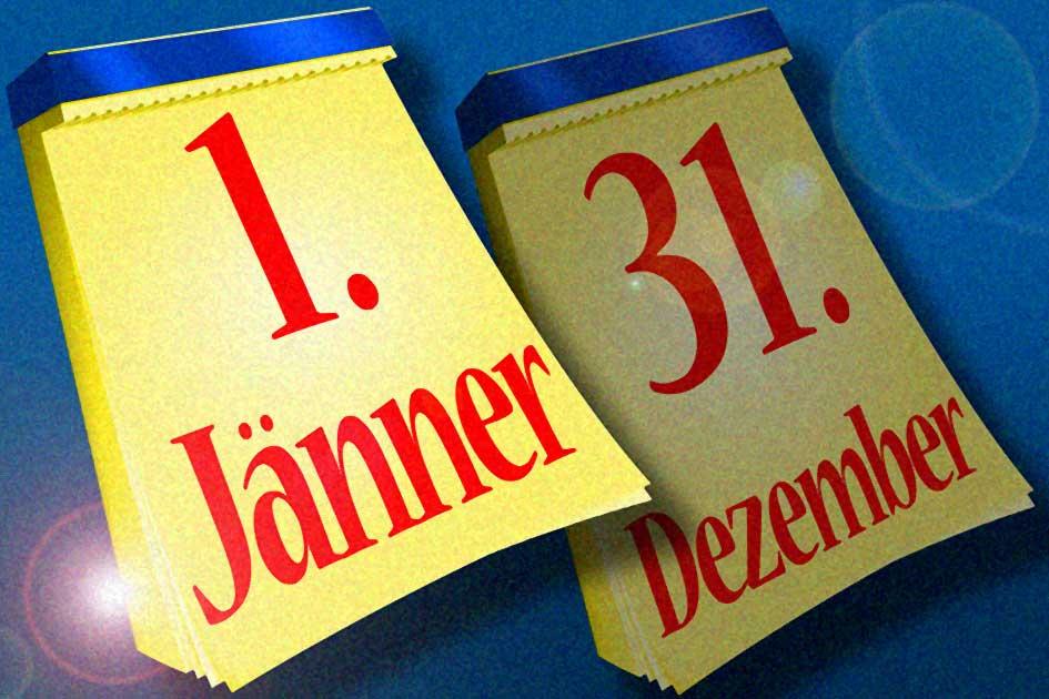 Kalender Abreisskalender Tageskalender 1. Jänner 31. Dezember Jahreswechsel Glanz 09092jdgr