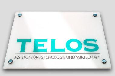 TELOS Firmenschild Hausmauer C07315bc