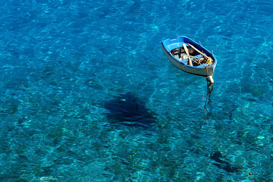 Sommer Meer Boot schweben / Foto: TELOS - B9806b