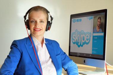 Unsere Institutsleiterin Mag. Magdalena Gasser beim Online-Coaching