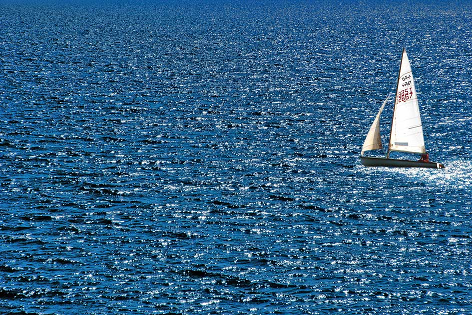 Meer Wasser Boot Segelschiff / Foto: TELOS - 2660b