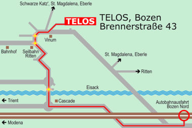 TELOS Lageplan Zufahrt 1 Autobahn / Grafik: TELOS - 2810c
