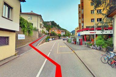 TELOS Lageplan Zufahrt 2 Brennerstrasse / Grafik: TELOS - 2798b