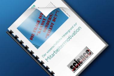Science 4 Der wissenschaftliche Hintergrund zur Mitarbeitermotivation quer / Grafik und Foto: TELOS