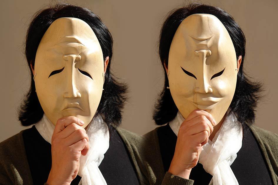 Maske Lachen Freude Trauer Weinen beide / Foto: TELOS - B7634ft