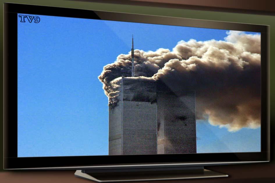 TV Fernseher Terror Twin Towers / Foto: TELOS - 11024G