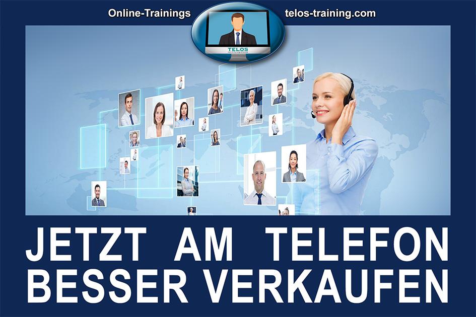 TELOS Onlinetraining Telefonverkauf Logo Jetzt am Telefon besser verkaufen / Grafik: TELOS - 3001