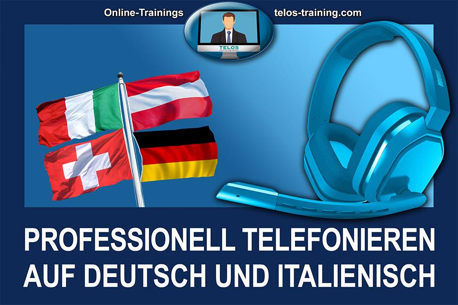 TELOS Onlinetraining Telefonieren deutsch italienisch Logo / Grafik: TELOS - 3004