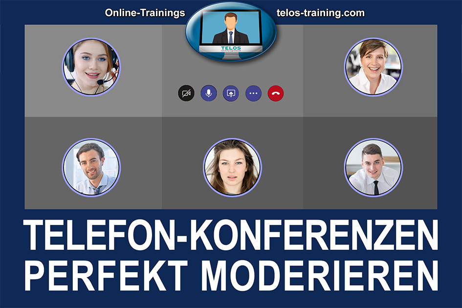 TELOS Onlinetraining Telefonkonferenzen perfekt moderieren Logo / Grafik: TELOS - 3006