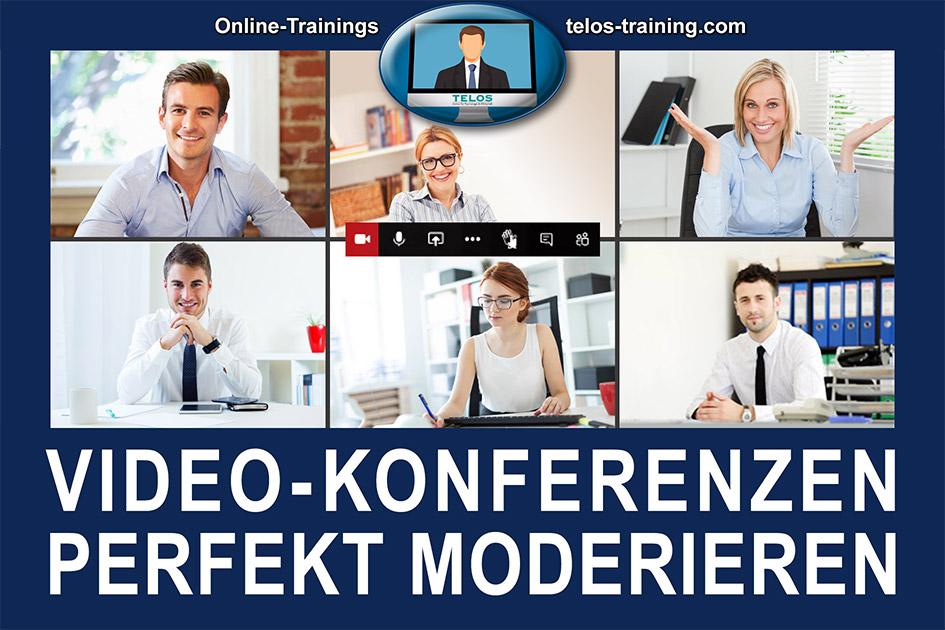 TELOS Onlinetraining Videokonferenzen perfekt moderieren Logo / Grafik: TELOS - 3005