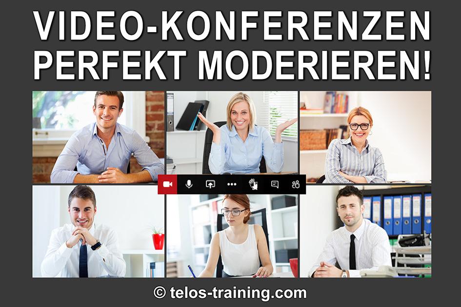 Videokonferenz Logo Konferenz Meeting online / Grafik: TELOS - 2997